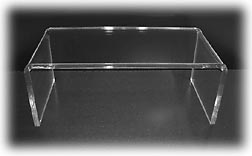 Clear Acrylic Riser TV Cable box display stand