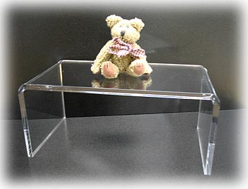 Clear Acrylic Lucite Risers Stands